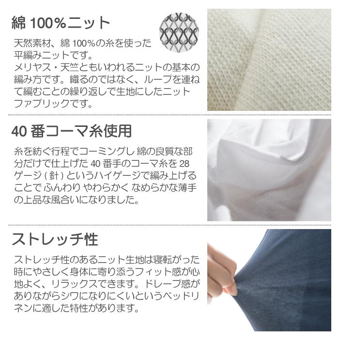 平編みニットのベッドリネン